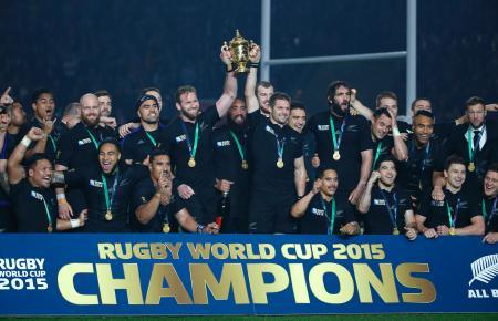 ラグビーW杯、NZが史上初連覇 34―17で豪州破る