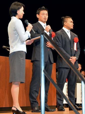 ラグビー五郎丸選手に特別市民賞 静岡・磐田