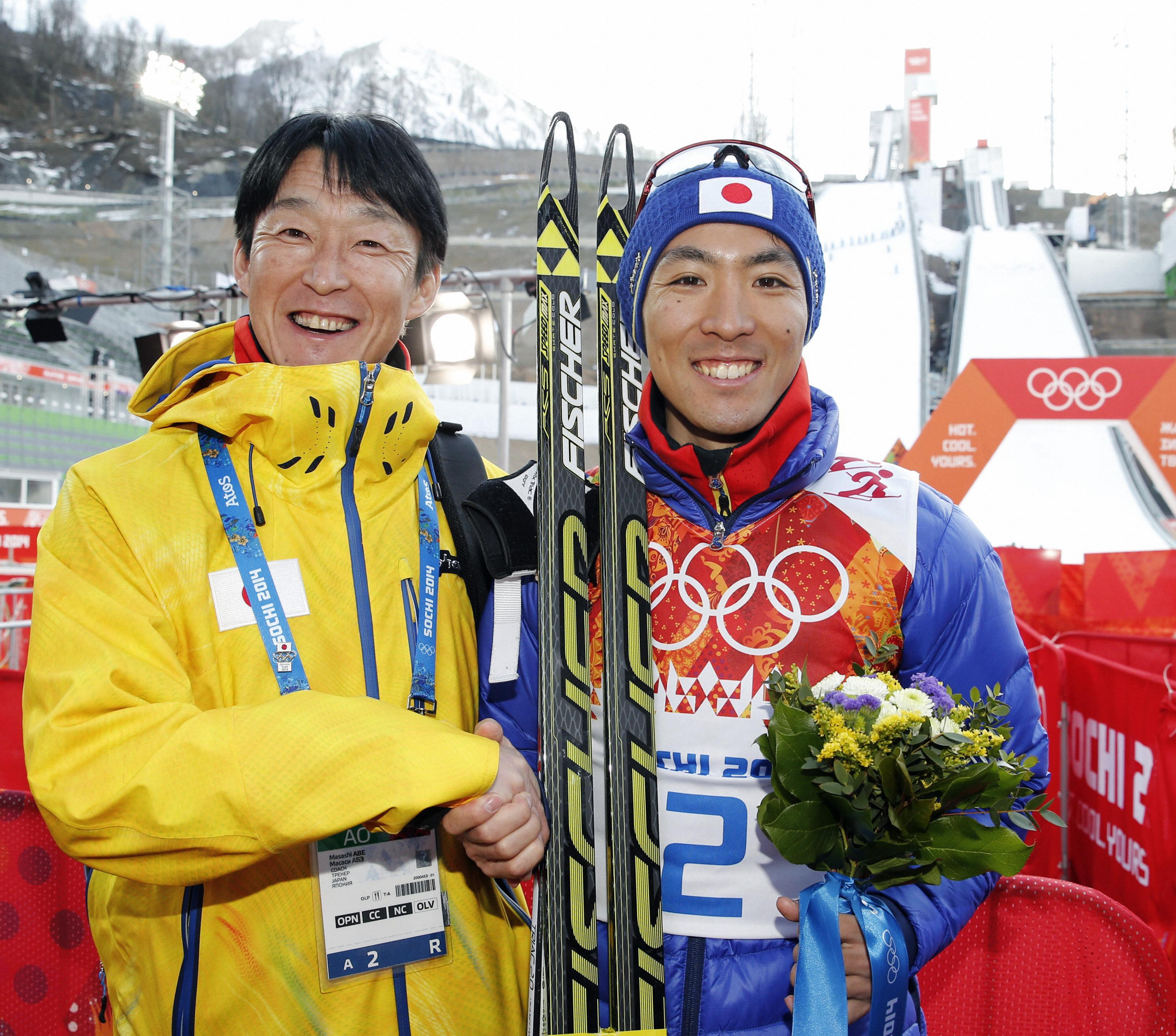 渡部暁斗、総合力の銀メダル 複合日本、20年ぶりの表彰台