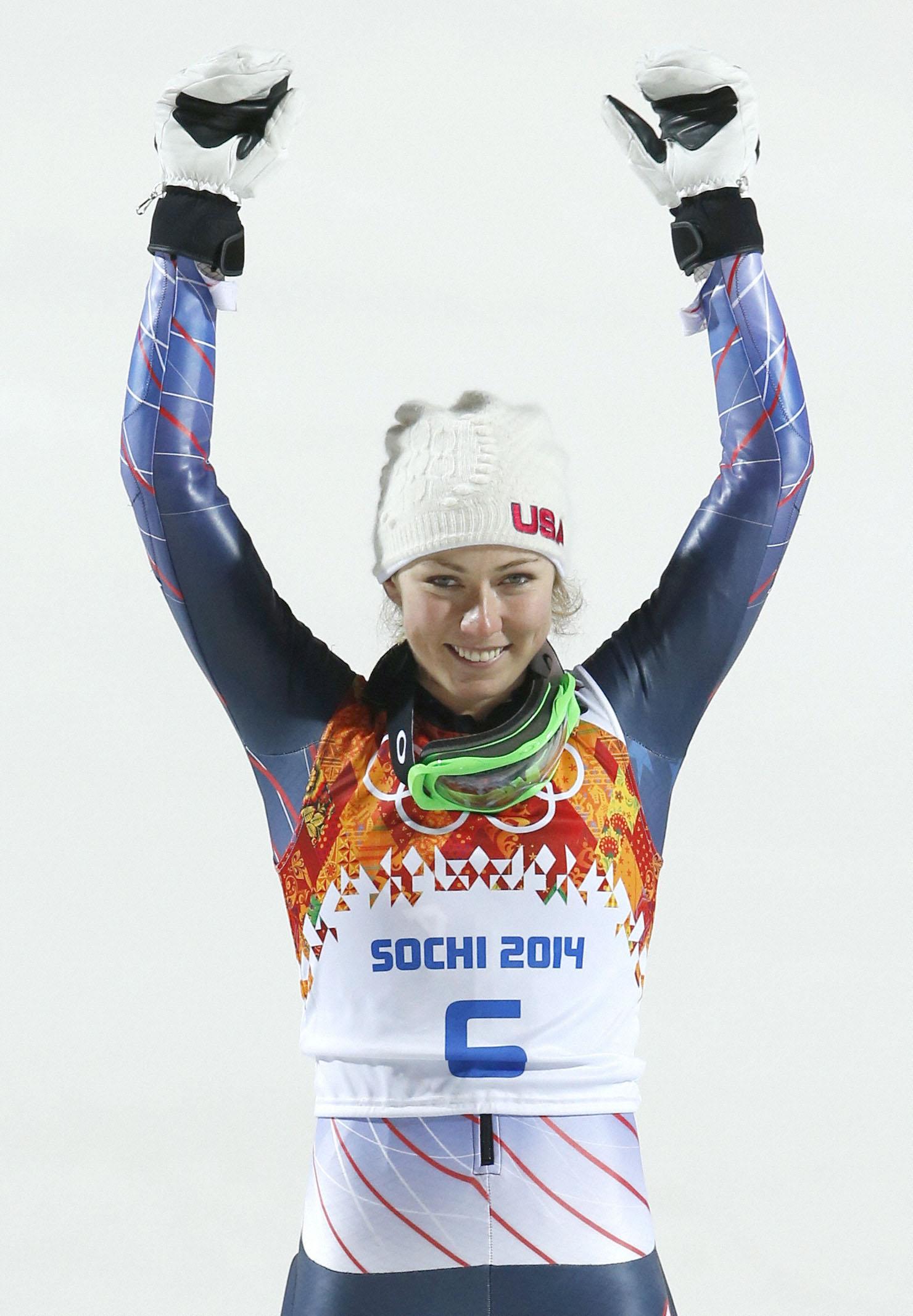 18歳シフリン、自信の滑り アルペン女子回転で最年少優勝