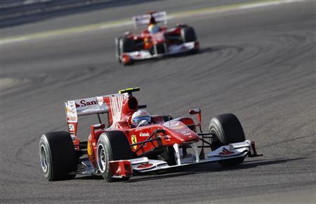 昨年のバーレーンGPで優勝したアロンソ