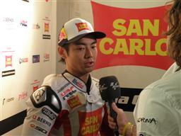 スペインGPで4位となった青山博一(写真は1日のフリー走行後)