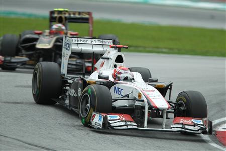 F1マレーシアGPで8位となり、今季初ポイントを獲得した小林可夢偉