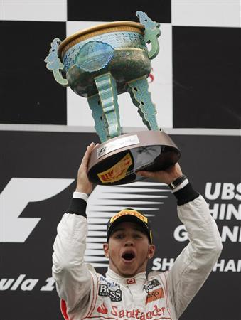 中国GPで今季初勝利を挙げたルイス・ハミルトン