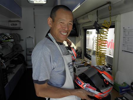 ARAIヘルメットを支えた、すぎさんこと杉原眞一氏。