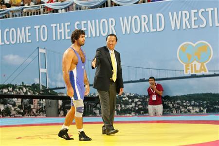 イラン選手の放棄により、不戦勝となったイスラエルの選手