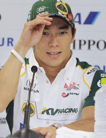 終盤は目立たなかった佐藤琢磨。写真は9月、インディジャパンの予選終了後