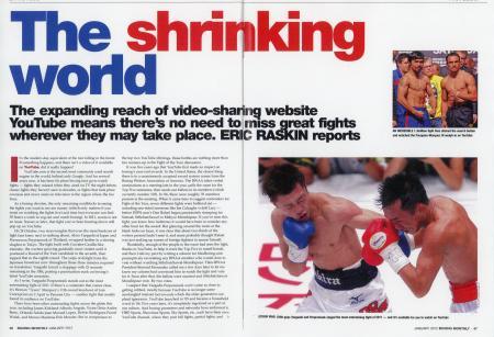 ラスキン氏の記事を掲載した英国の「ボクシング・マンスリー」誌