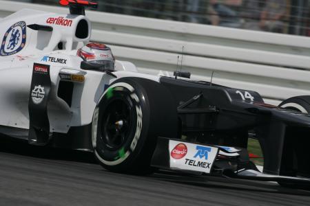 ドイツ・グランプリで4位に繰り上がり、自己最高を更新した小林可夢偉 Sauber
