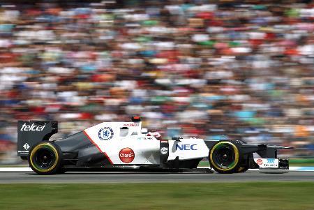 7月22日のドイツGPで4位となった小林可夢偉