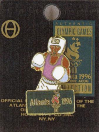 1996年アトランタ五輪のボクシング競技公式記念ピンバッジ