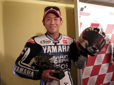 代役ながらモトGP最終戦で2位となった中須賀克行