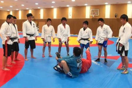 5月に東京で行われたサンボ講習会