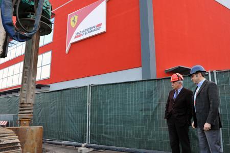 フェラーリの新施設の工事が始まった Ferrari