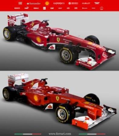 上が段差ノーズを解消したマシン。美しいマシンは速いという定説は実証されるか Ferrari