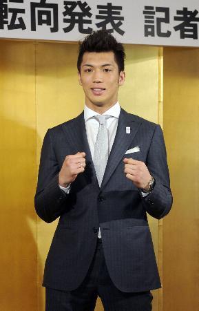 4月12日にプロ転向を表明した村田諒太