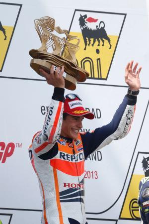 ドイツGPで2勝目を挙げ、喜ぶマルケス