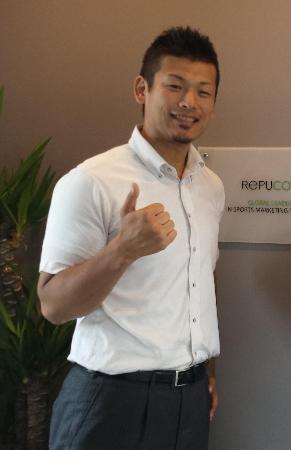 ハンドボール日本リーグの初代マーケッティング部長として精力的に発展に取り組む東俊介氏(本人提供)