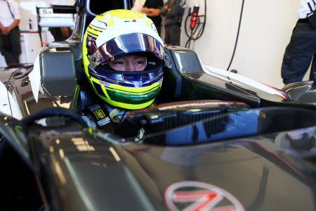 ザウバーからテストに参加した佐藤公哉 Sauber