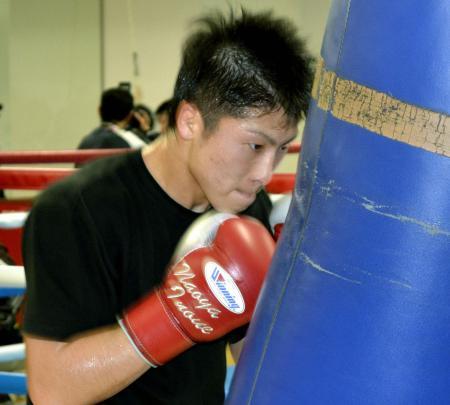 WBCライトフライ級王座に挑戦する井上尚弥=横浜市の大橋ジム
