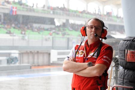 チーム代表の辞任を発表したステファノ・ドメニカリ=Ferrari