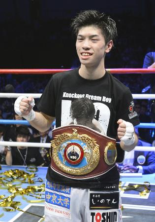 日本選手最速のプロ5戦でボクシング世界王者となった田中恒成
