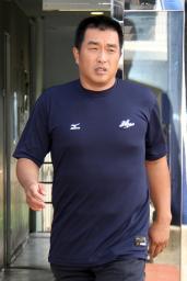 50歳の誕生日を迎えた中日の山本昌=11日、ナゴヤ球場
