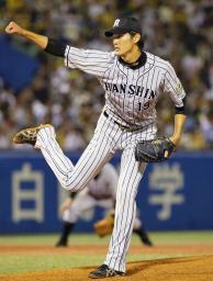 リーグ一番乗りで10勝目を挙げた阪神・藤浪=神宮
