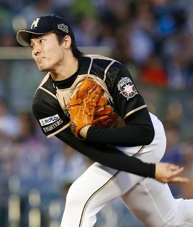 プロ初完封で8勝目を挙げた日本ハム・有原=ほっともっと神戸