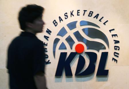 緊急の理事会を開催したバスケットボール男子の韓国プロリーグKBLの本部=8日、ソウル(聯合=共同)