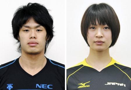 木村沙織選手(右)と日高裕次郎氏