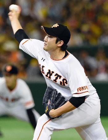 7回を無失点で10勝目を挙げた巨人・菅野=東京ドーム