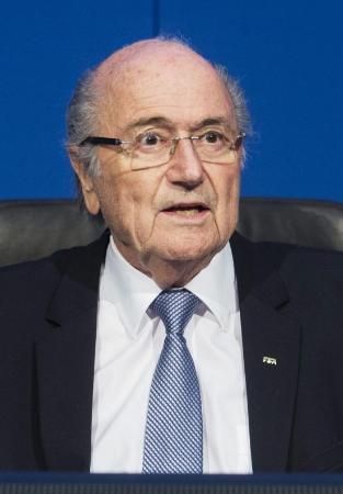 FIFAのブラッター会長(AP=共同)