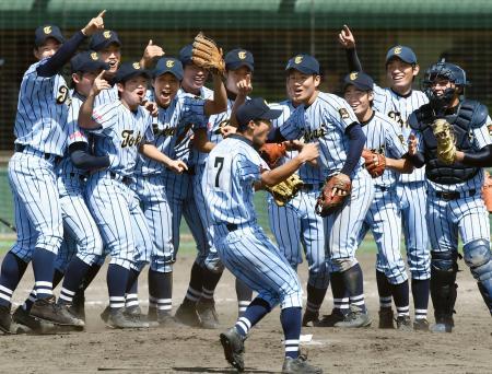 優勝し喜ぶ東海大相模ナイン=和歌山市紀三井寺野球場
