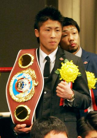 ボクシングの2014年男子プロ最優秀選手に初選出された井上尚弥