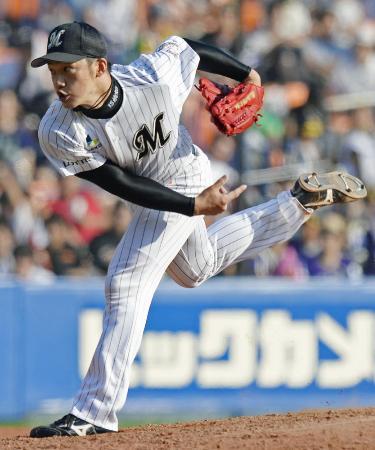 ロッテの上野大樹投手