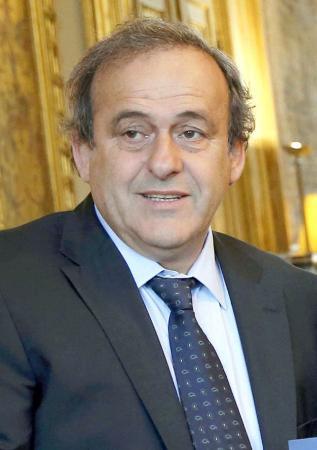 国際サッカー連盟のプラティニ副会長(ロイター=共同)
