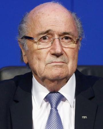 FIFAのブラッター会長(ロイター=共同)