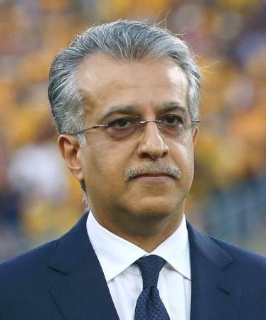 アジア・サッカー連盟(AFC)のサルマン会長(ゲッティ=共同)