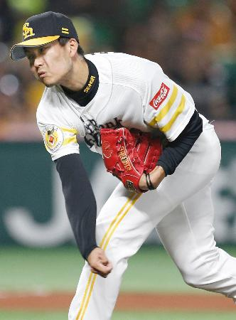 阪神戦に先発したソフトバンク・千賀=ヤフオクドーム