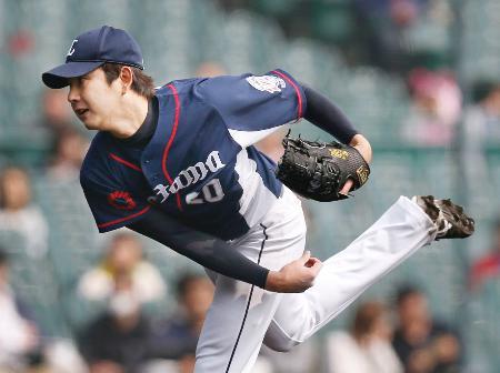 阪神戦に先発し、5回2失点だった西武・野上=甲子園