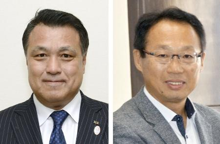田嶋幸三氏(左)、岡田武史氏