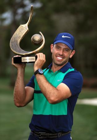 米男子ゴルフのバルスパー選手権で優勝したシャール・シュワーツェル=13日、フロリダ州パームハーバー(ゲッティ=共同)