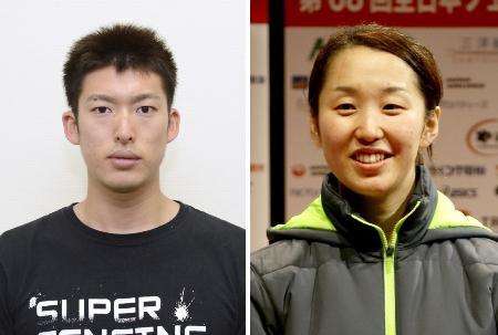 見延和靖(左)、佐藤希望