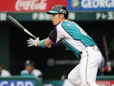 1回日本ハム2死一、三塁、近藤が中前に先制打を放つ=西武プリンスドーム