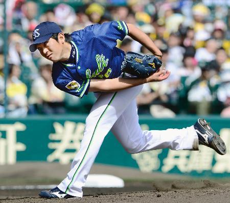 阪神戦に先発し、2勝目を挙げたヤクルト・原樹=甲子園