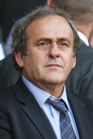 UEFAのプラティニ会長(ゲッティ=共同)
