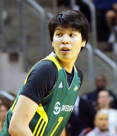 所属する米女子プロ、WNBAのストームでプレーする渡嘉敷来夢=シアトル(共同)