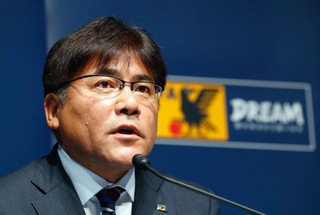 リオ五輪のサッカー男子日本代表を発表する手倉森監督=1日午後、東京都文京区