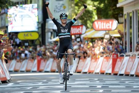 ツール・ド・フランス第8ステージを制したクリストファー・フルーム=バニェールドリュション(ゲッティ=共同)